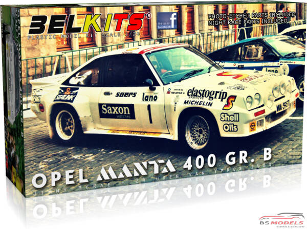 BEL009 Opel Manta 400 GR B - Jimmy McRae - 24H Ypres 1984 Plastic Kit
