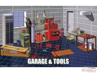 FUJ111186 Garage & Tools set Plastic Kit