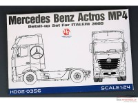 HD020356 Mercedes Benz Actros MP4 detail set  (For ITA 3905) Etched metal Accessoires