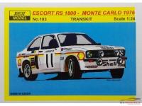 REJI103 Ford Escort MK.II RS1800 Monte Carlo 1976 - R. Clark Multimedia Transkit