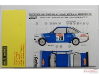 "REJI124 Ford Escort RS1800 ""Ford Italia""  San Remo 1981 - Presotto Waterslide decal Decal"
