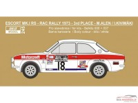 "REJI245 Ford Escort MK.I ""Motorcraft""  RAC 1973 - #18 Alen/Kivimaki Waterslide decal Decal"