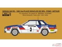 REJI262 Nissan 240 RS - Boucle de Spa 1983 - Pond/Arthur Multimedia Transkit