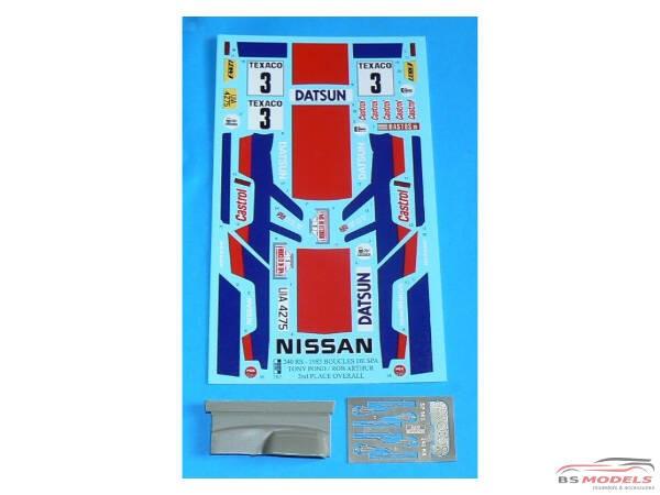 REJI262 Nissan 240 RS - Boucle de Spa 1983 - Pond/Arthur Multimedia Transkit
