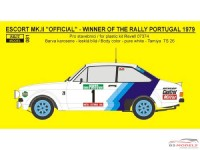 "REJI81 Ford Escort RS1800 ""Official""  Portugal 1979 #1 Mikkola #3 Waldegard Waterslide decal Decal"