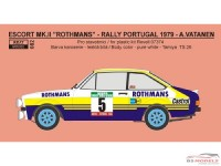 "REJI82 Ford Escort RS1800 ""Rothmans"" Portugal 1979 - Vatanen Waterslide decal Decal"