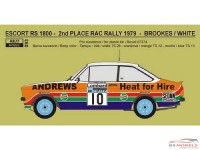 "REJI93 Ford Escort RS1800 ""Andrews"" RAC rally 1979 - R. Brookes Waterslide decal Decal"