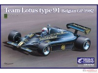 EBR20019 Lotus 91 Belgian GP 1982 Plastic Kit
