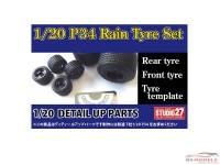STU27FP20154 Tyrrell P34 RAIN tyre set Multimedia Accessoires