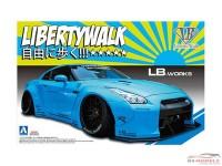 AOS054024 Nissan R35 GT-R ver1  Liberty Walk Plastic Kit