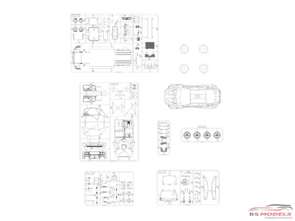 PLZPN24001 BMW M6 GT3  24H Spa 2016 winner Plastic Kit