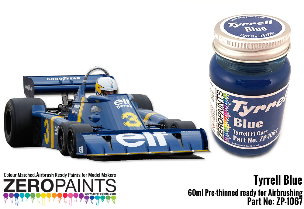 ZP1067 Tyrrell Blue paint 60 ml Paint Material