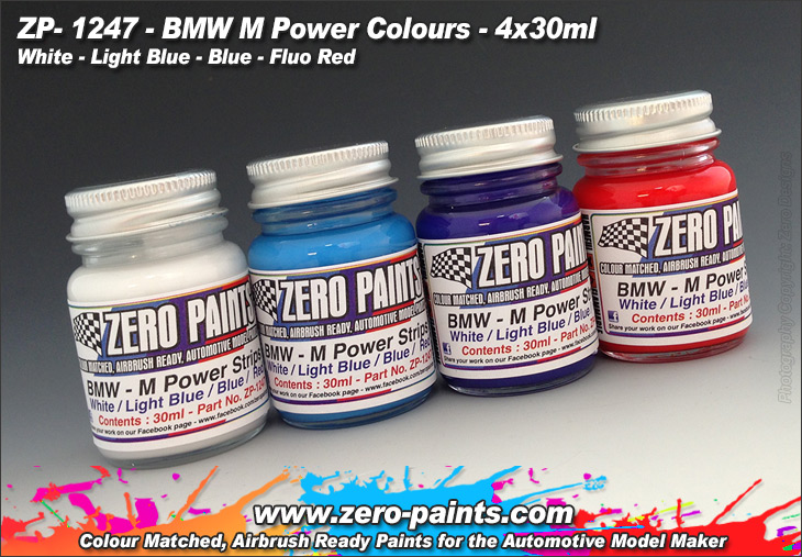 ZP1247 BMW  M Power Colours  paint set 4x30 ml Paint Material