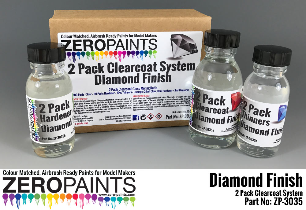 ZP3035 Diamond Finish - 2 pack GLOSS Clearcoat system  220 ml Paint Material