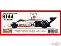 "STU27FK20300 Brabham BT44 (BT42/44) ""Hitachi"" Belgian GP 1974  Teddy Pilette Multimedia Kit"