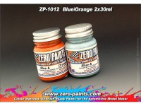 ZP1012 Gulf Blue and Orange paint set 2x30 ml Paint Material