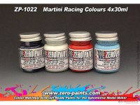 ZP1022 Martini Racing Colour paint set 4x30 ml Paint Material