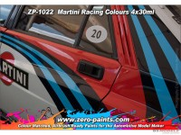 ZP1022 Martini Racing Colour paint set 4x30 ml Paint Material