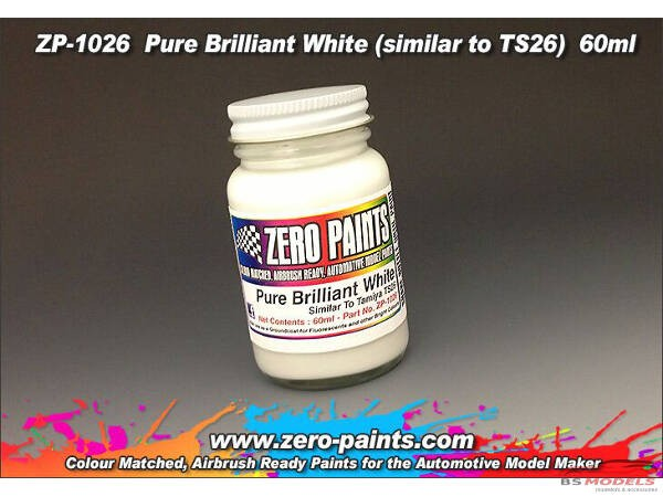 ZP1026 Pure Brilliant white (similar to TS26) paint 60 ml Paint Material
