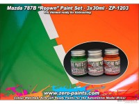 ZP1203 Mazda  787B  Renown  paint set  3x30 ml Paint Material