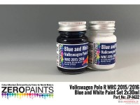ZP1422 Volkswagen Polo R  WRC 2015  Blue and white paint set 2x30 ml Paint Material