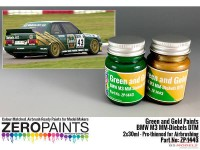 ZP1443 BMW M3  MM-Diebels  DTM  green - gold paint set 2x30 ml Paint Material
