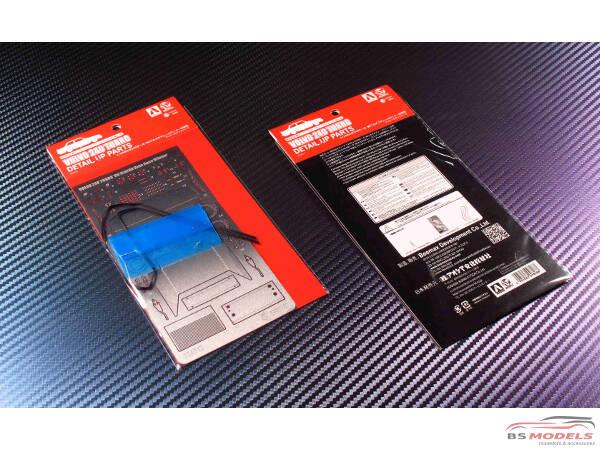 BEE24012UP Volvo 240 Turbo Macau GP Guia winner 1986 detail up parts Etched metal Accessoires