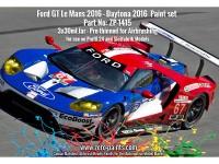 ZP1415 Ford GT Le Mans 2016 - Daytona 2016 set 3 x 30 ml Paint Material