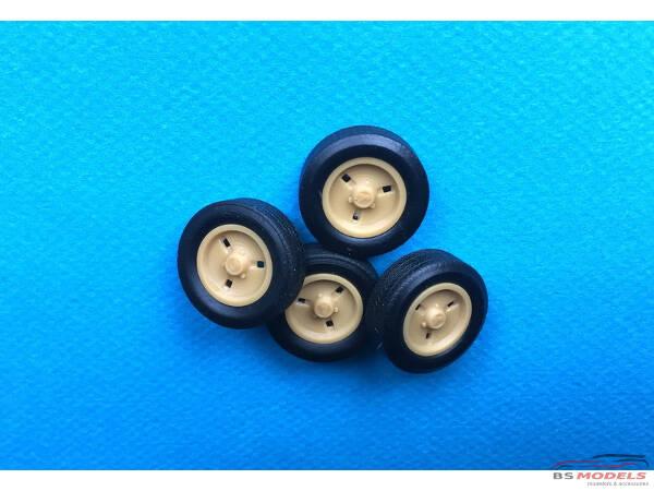 24R5ALP 4 rims + tyres  R5 Alpine Resin Accessoires