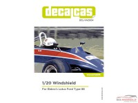 DCLVAC004 Vacuum Formed visor for Lotus Ford Type 88  (Ebbro20011) Multimedia Accessoires