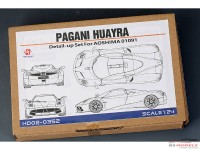 HD020352 Pagani Huayra detail set (For AOS) Multimedia Accessoires