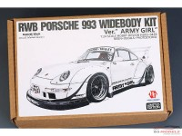 "HD030459 RWB Porsche 993 wide body transkit  ""Army Girl"" Multimedia Transkit"