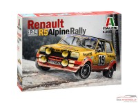 ITA3652 Renault R5 Alpine rally Plastic Kit