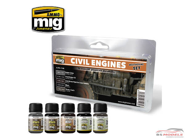 AMIG7146 Civil Engines Weathering set Paint Material