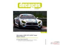 DCLDEC010 Mercedes AMG GT3 AMG team Black Falcon #4 24H Nürburgring 2016 Waterslide decal Decal
