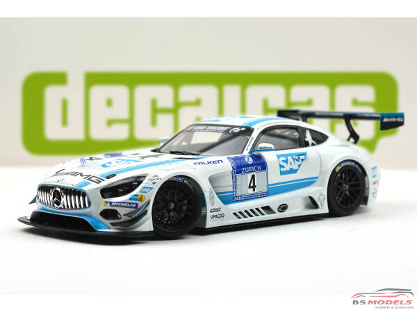 DCLDEC010 Mercedes AMG GT3 AMG team Black Falcon #4 24H Nürburgring 2016 Waterslide decal Decal