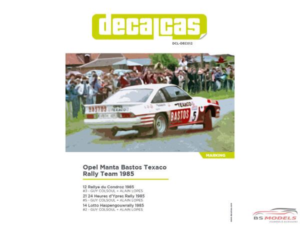 DCLDEC012 Opel Manta GrB Bastos Colsoul / Lopez  #2