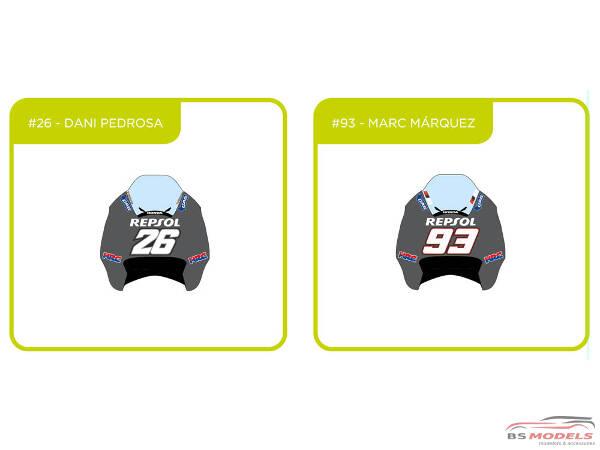 93  Pedrosa / Marquez  Motorland Aragon test 2013 Waterslide decal Decal