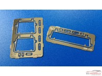 HME007+020 Type 2 Safari style front  & rear window frame Etched metal Accessoires