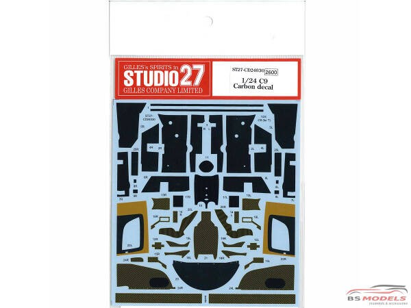 STU27CD24030 Sauber C9 carbon decal (for Tam) Waterslide decal Decal