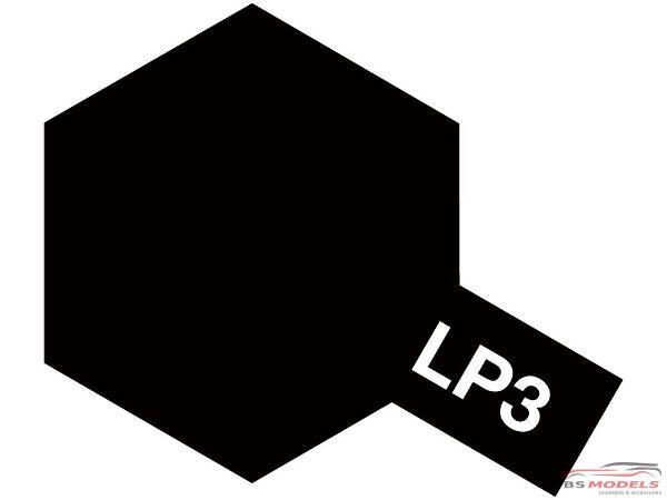 TAM82103 Tamiya LP 3  Flat Black Lacquer Paint 10 ml Paint Material
