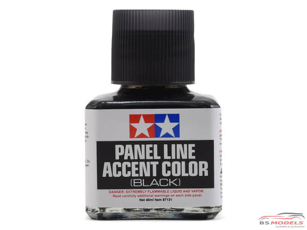 TAM87131 Tamiya Panel line accent color Black Paint Material