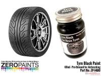 ZP1480 Tyre Black paint 60ml Paint Material
