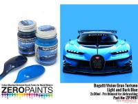 ZP1497 Bugatti Vision Turismo - Light&Dark blue set 2x30ml Paint Material