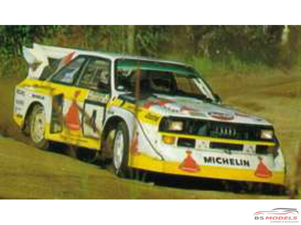 BEE24017 Audi Quattro S1  1985 Monte Carlo Plastic Kit