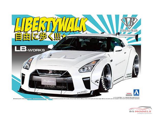 AOS055908 Nissan LB Works R35 GT-R  vers 1.5  *LibertyWalk* Plastic Kit