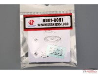 HD010051 Nissan R35 metal logo Etched metal Accessoires