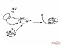 HD020067 Bonnet Pins Etched metal Accessoires