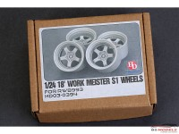 HD030394 Work Meister S1 wheels for RWB993  18' Resin Accessoires