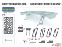HD030408 Voltex GT wing Type 5 180 cm long (resin+PE+metal parts) Multimedia Accessoires